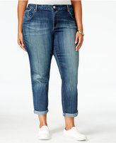 Jessica Simpson Trendy Plus Size Monroe Wright Wash Cropped Jeans