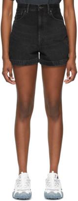 Acne Studios Black Denim Faded Shorts