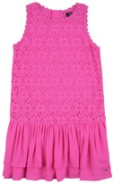 Juicy Couture Girls Soft Woven Daisy Scroll Lace Dress