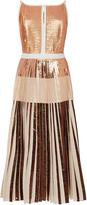 Proenza Schouler Sleeveless Foil Printed Cloqué Dress