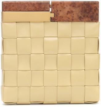 Bottega Veneta Snap intrecciato leather clutch