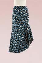 Marni Asymmetric knitted midi skirt