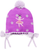 Kidorable Orchid Ballet Pom-Pom Beanie