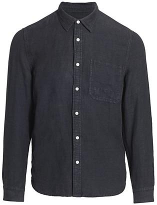 7 For All Mankind Linen Tencel Pocket Sport Shirt