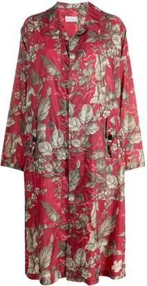 Pierre Louis Mascia All-Over Floral Print Coat