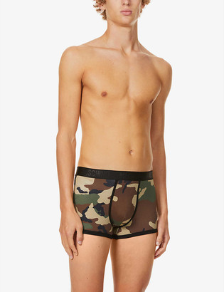 Moschino Stereo camouflage-print stretch-cotton jersey trunks