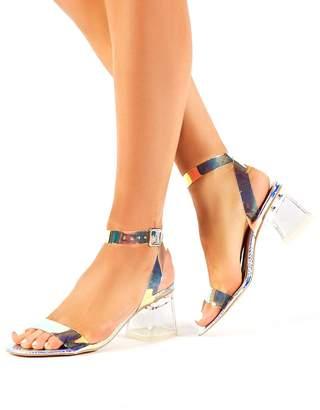Public Desire Afternoon Heeled Sandals - Iridescent