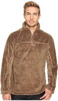 True Grit Luxe Fleece Stripe 1/4 Zip Pullover