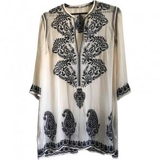 MARIE FRANCE VAN DAMME Beige Silk Top for Women