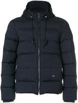 Emporio Armani padded hood jacket - men - Feather Down/Polyamide/Polyester/Spandex/Elastane - S