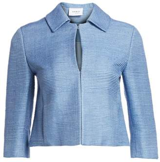 Akris Punto Raw Silk Cropped Jacket