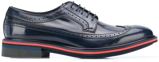 Paul Smith Chase contrast-trimmed leather brogues
