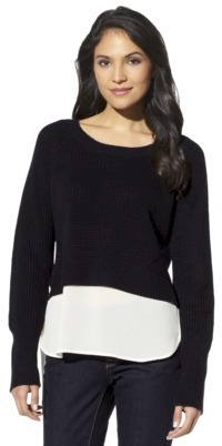 labworks Petites Long-Sleeve Pullover - Black