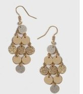 Dorothy Perkins Womens Glitter Chandelier Earrings- Silver