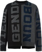 Juun.J letters jumper - men - Wool - 46