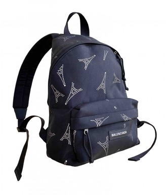 Balenciaga Black Cloth Backpacks