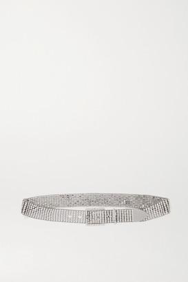 Isabel Marant Joia Crystal-embellished Silver-tone Belt