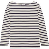 Saint Laurent Striped Cotton-jersey Top - Ivory