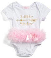 Infant Girl's Popatur Little Sister Skirted Bodysuit