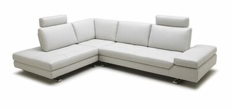 "Orren Ellis Lamora Leather 121"" Sleeper Sectional Orientation: Right Hand Facing Chaise"