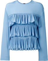 Marni ruffle blouse - women - Silk/Acetate - 40