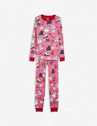 Hatley Festive sugar rush-print cotton pyjamas 2-10 years