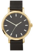 Steven Alan Round Leather Strap Watch, 30mm