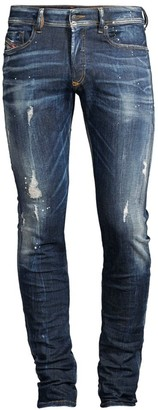 Diesel Sleenker Skinny Distressed Jeans