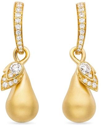Boodles Yellow Gold and Diamond Orchard Drop Earrings