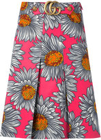 Gucci daisy print skirt - women - Silk/Polyester/Viscose/Wool - 42