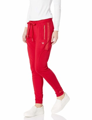 True Religion Women's Taped Seam Skinny Leg fit Jogger Sweat Pant