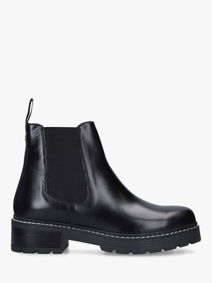 Carvela Taken Leather Chelsea Boots, Black