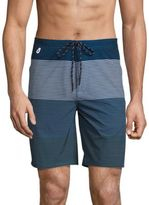 Surfside Supply Co. Multi-Striped Board Shorts