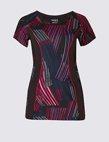 M&S Collection Printed Short Sleeve T-Shirt