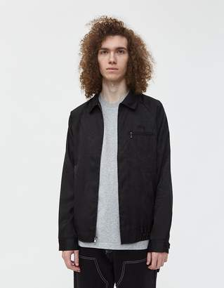Stussy Zip Up Work Shirt in Black