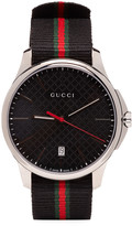 Gucci Silver & Black G-Timeless Watch