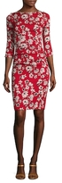 Tracy Reese Silk Floral Print Sheath Dress