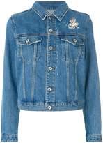 Diesel folk embroidery denim jacket