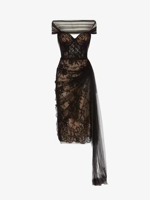 Alexander McQueen Lace Corset Evening Dress