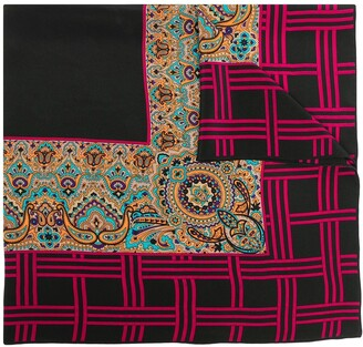 Yves Saint Laurent Pre-Owned Multiple Prints Silk Scarf