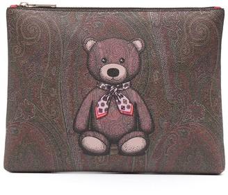 Etro Teddy Bear paisley clutch