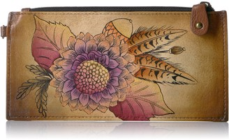 Anuschka Anna by Handpainted Leather Organizer Wallet
