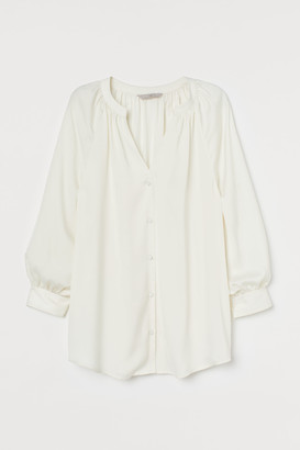 H&M V-neck satin blouse