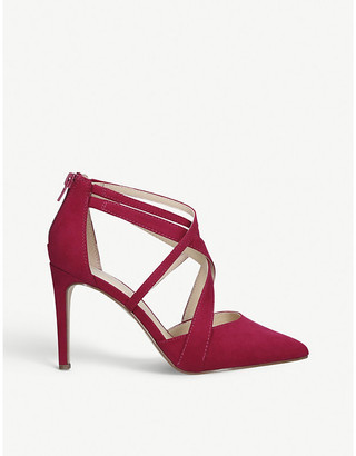 Nine West Zorever strappy faux-suede courts