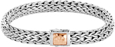John Hardy Classic Chain 7.5MM Hammered Clasp Bracelet, Silver, 18K