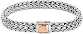 John Hardy Women's Classic Chain 7.5MM Hammered Clasp Bracelet, Sterling Silver, 18K