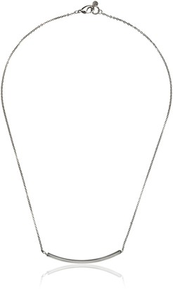 Yochi Delicate Silver-Plated Bar Necklace 18""