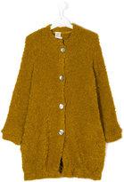 Caffe' D'orzo - Roberta bouclé knit coat - kids - Acrylic/Polyamide/Mohair/Wool - 14 yrs