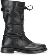 Diesel Black Gold wrapped stripe boots