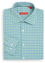 Report Collection Regular-Fit Micro Check Cotton Dress Shirt